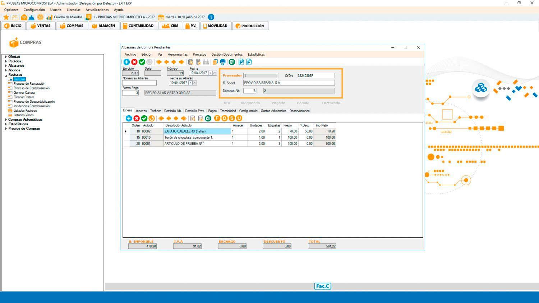 Albaranes ERP Software de gestión Valencia