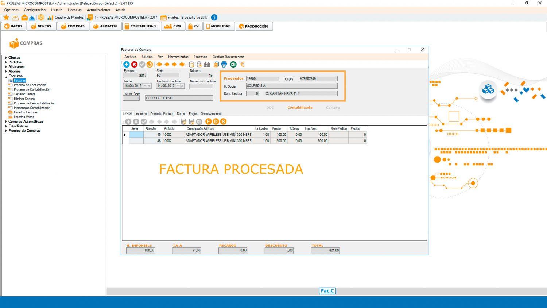 Facturas ERP Software de gestión Valencia