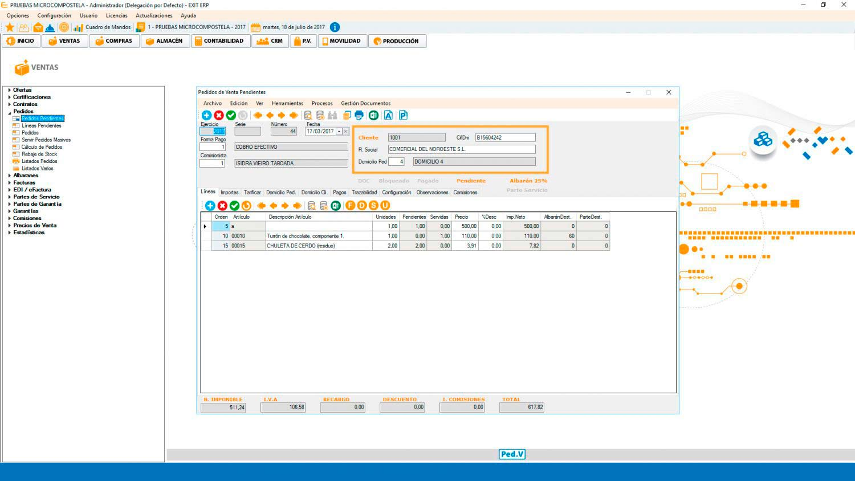 Pedidos ERP Software de gestión Valencia